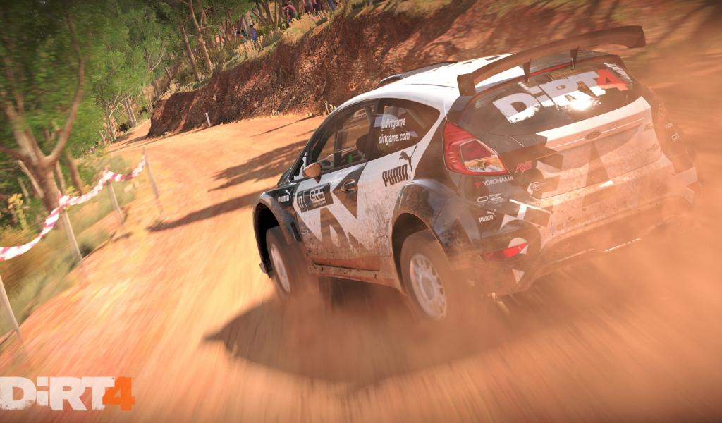 1024x600 wallpaper Dirt 4, racing game, car