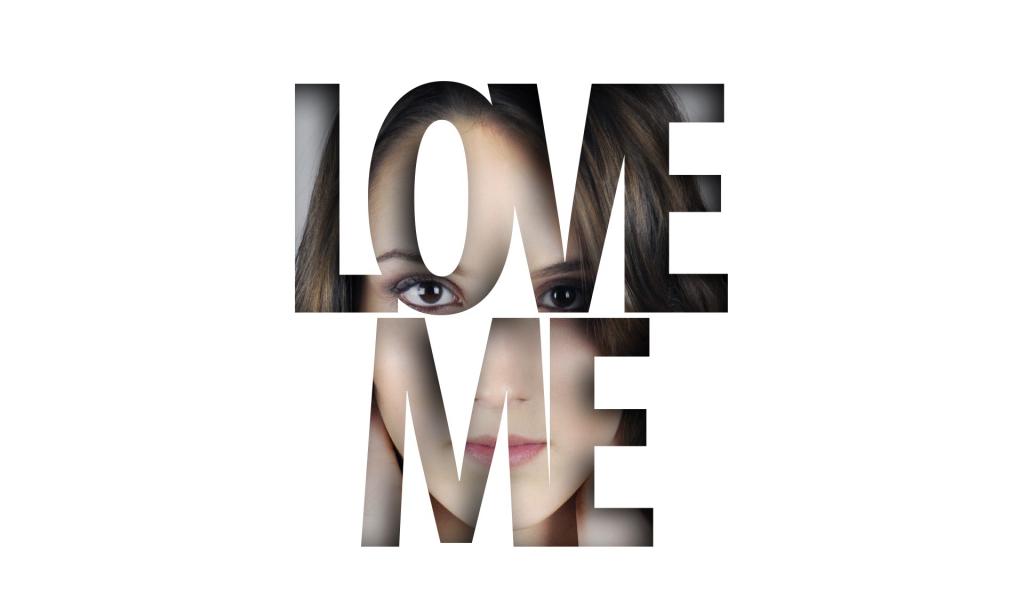 1024x600 wallpaper Love, love me, girl, typography