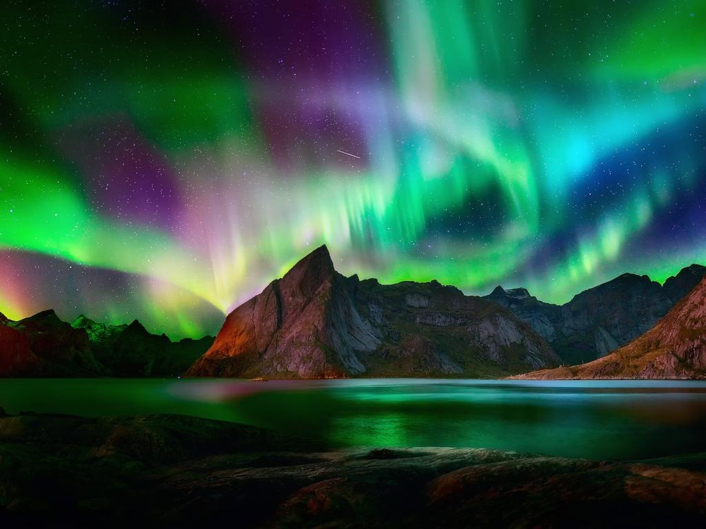Desktop Wallpaper Beautiful Colorful Northern Lights