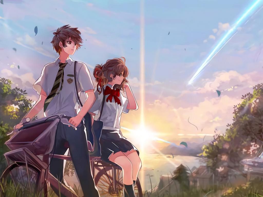 Mitsuha Miyamizu Taki Tachibana Anime Couple Art