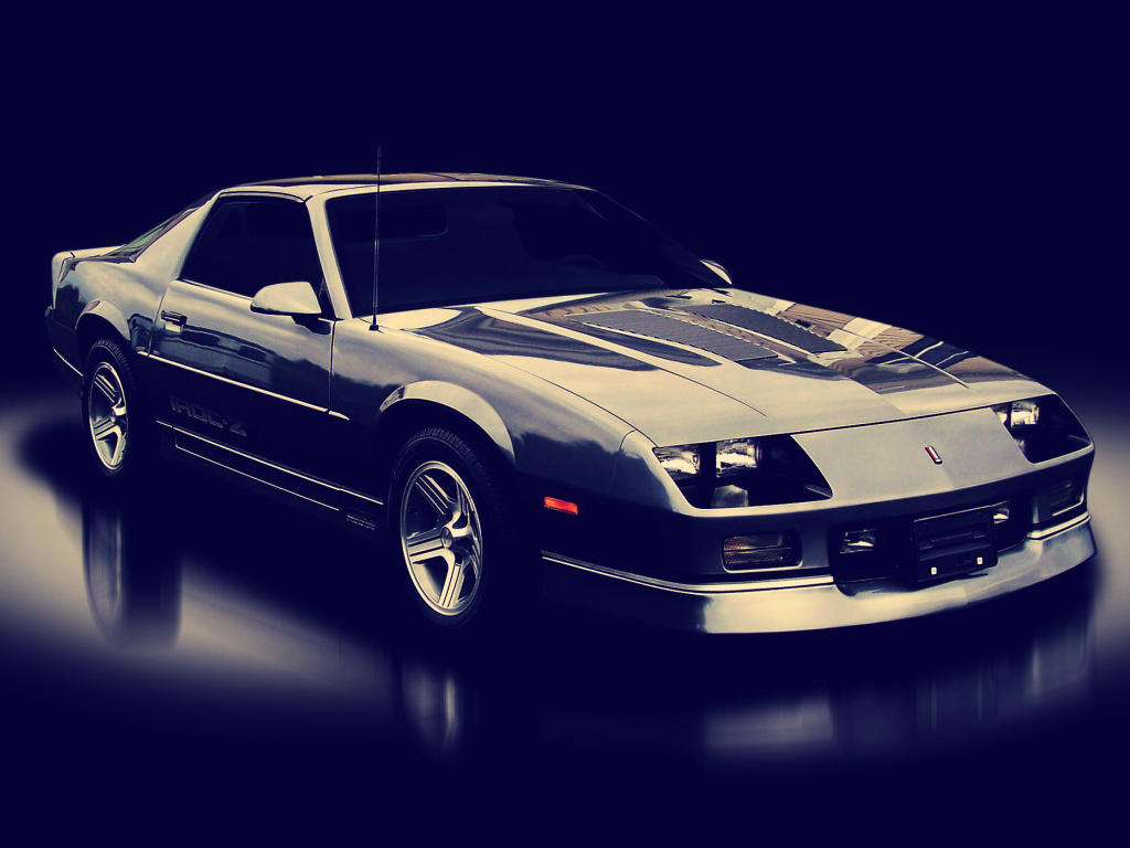 1024x768 wallpaper Chevrolet camaro, car, front