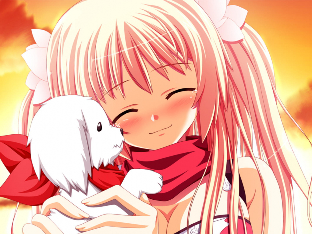 Puppy Toys For 10 And Up : Desktop wallpaper cute anime girl sakura fortissimo