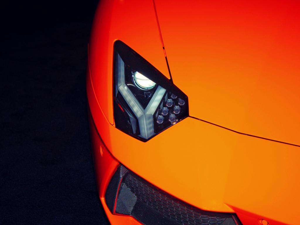 1024x768 wallpaper Exotic car, Lamborghini, headlight, 4k