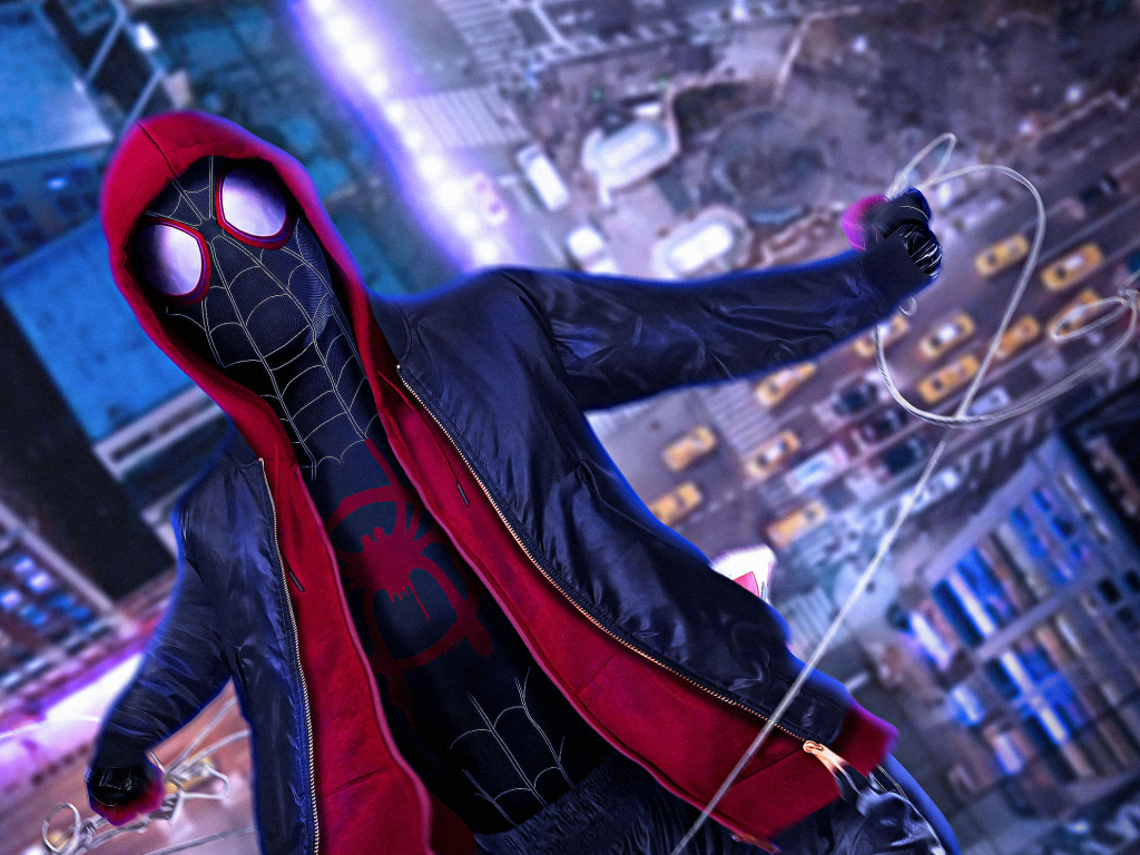 Desktop Wallpaper Spider Man: Into The Spider Verse, Movie, 2018, Cosplay, Hd Image, Picture
