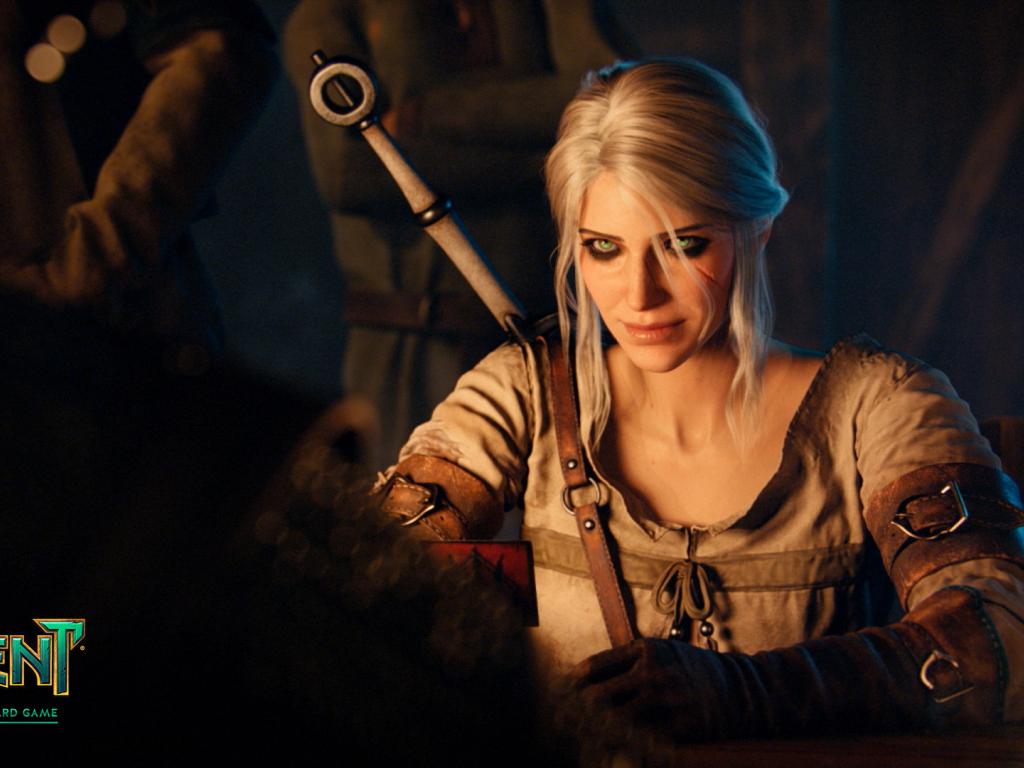 Desktop wallpaper ciri video game gwent the witcher - Ciri gwent card witcher 3 ...