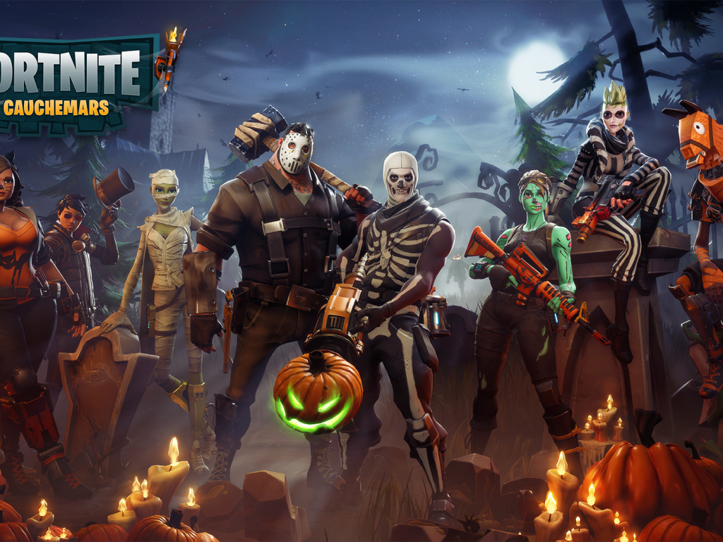 Desktop Wallpaper Fortnite, Characters, Game, Halloween, Hd Image, Picture, Background