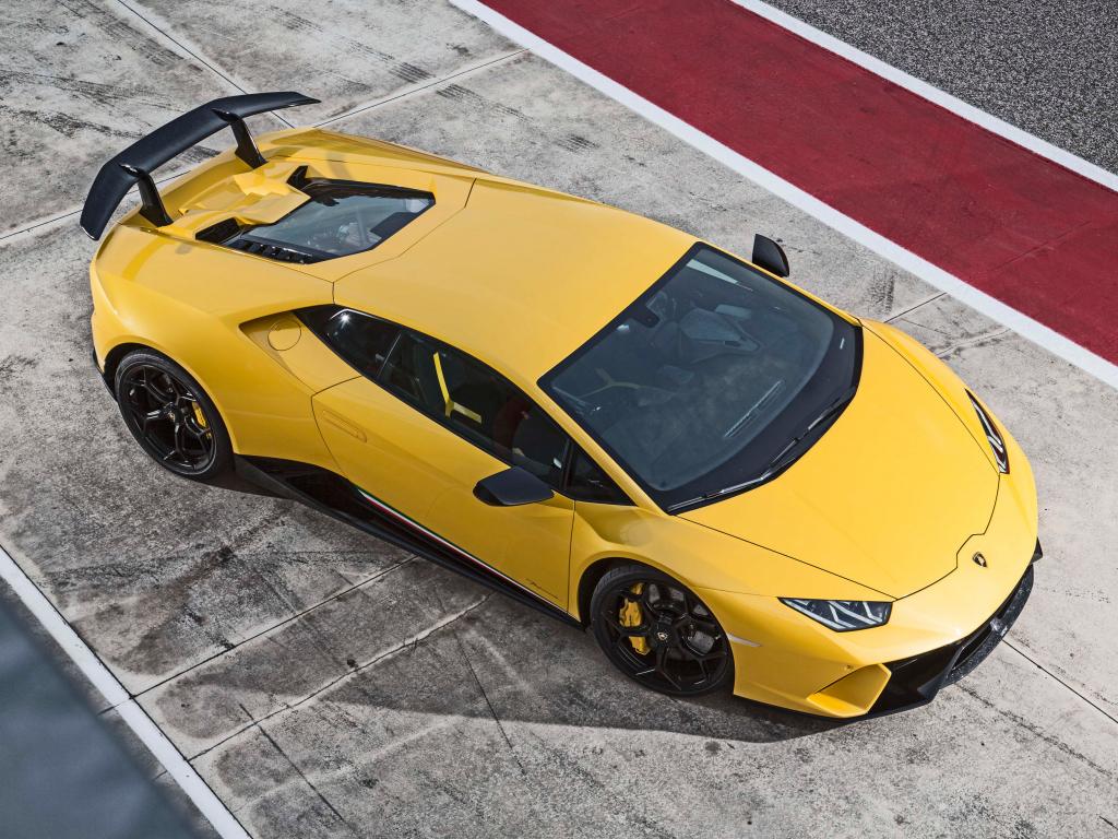 Desktop Wallpaper Lamborghini Huracan Performante, 2018 Cars, Yellow Sports Car, Hd Image ...
