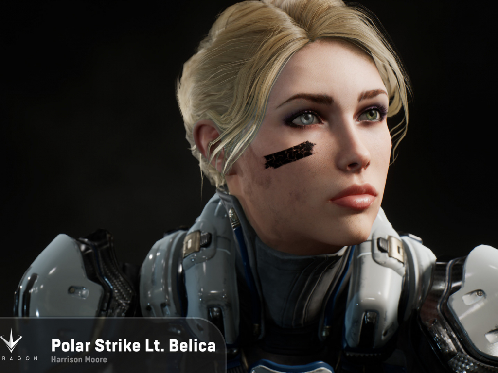 1024x768 wallpaper Polar strike video game, Lt. Belica