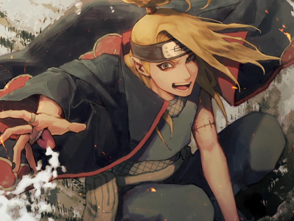 Desktop Wallpaper Deidara Naruto Shippuden Naruto Anime