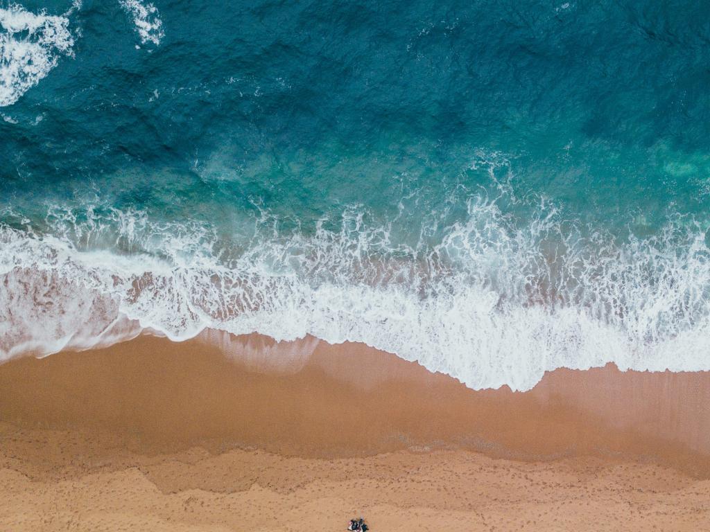 Ipad Wallpaper Beach Scenes: Desktop Wallpaper The Waves, Beach, Aerial View, Blue Sea