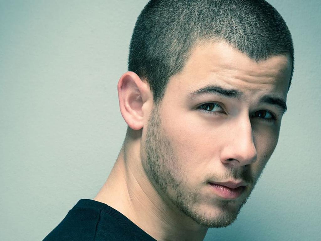 Desktop Wallpaper Nick Jonas Face, Singer, Hd Image