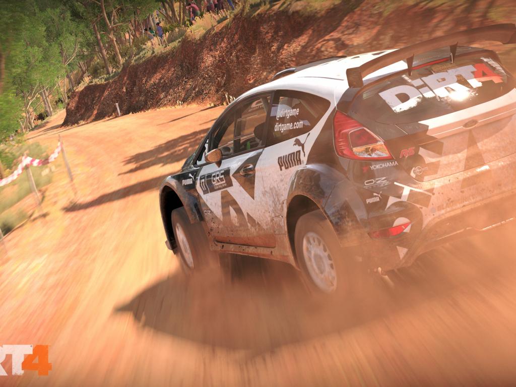 1024x768 wallpaper Dirt 4, racing game, car