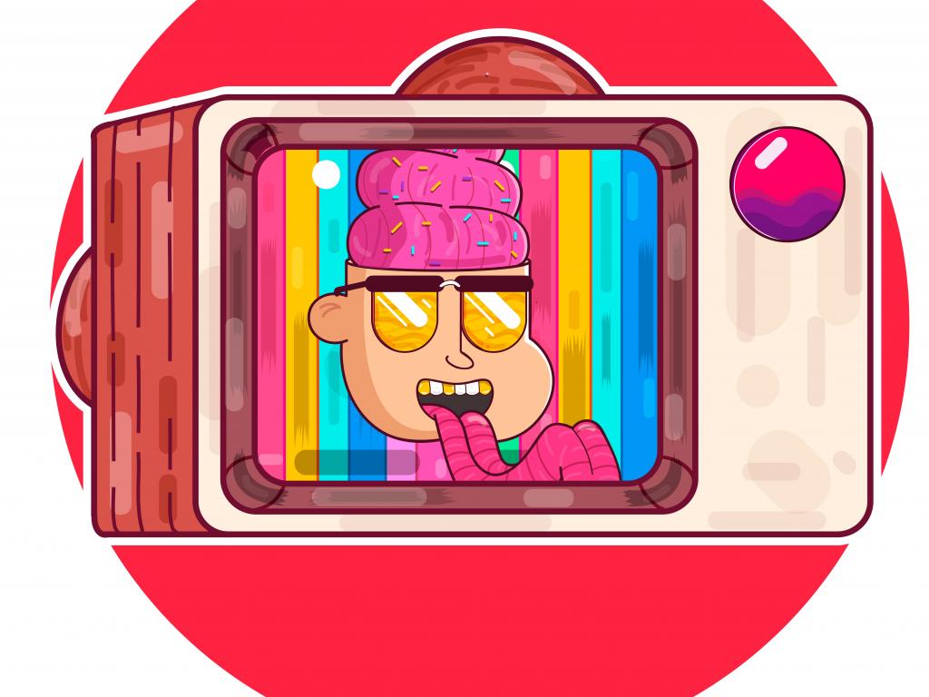 1024x768 wallpaper Candyman, digital art, 5k
