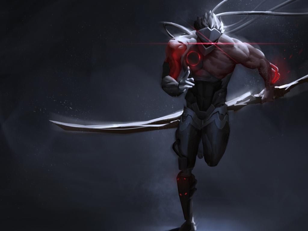 Desktop Wallpaper Genji, Overwatch, Run, Ninja, Hd Image ...