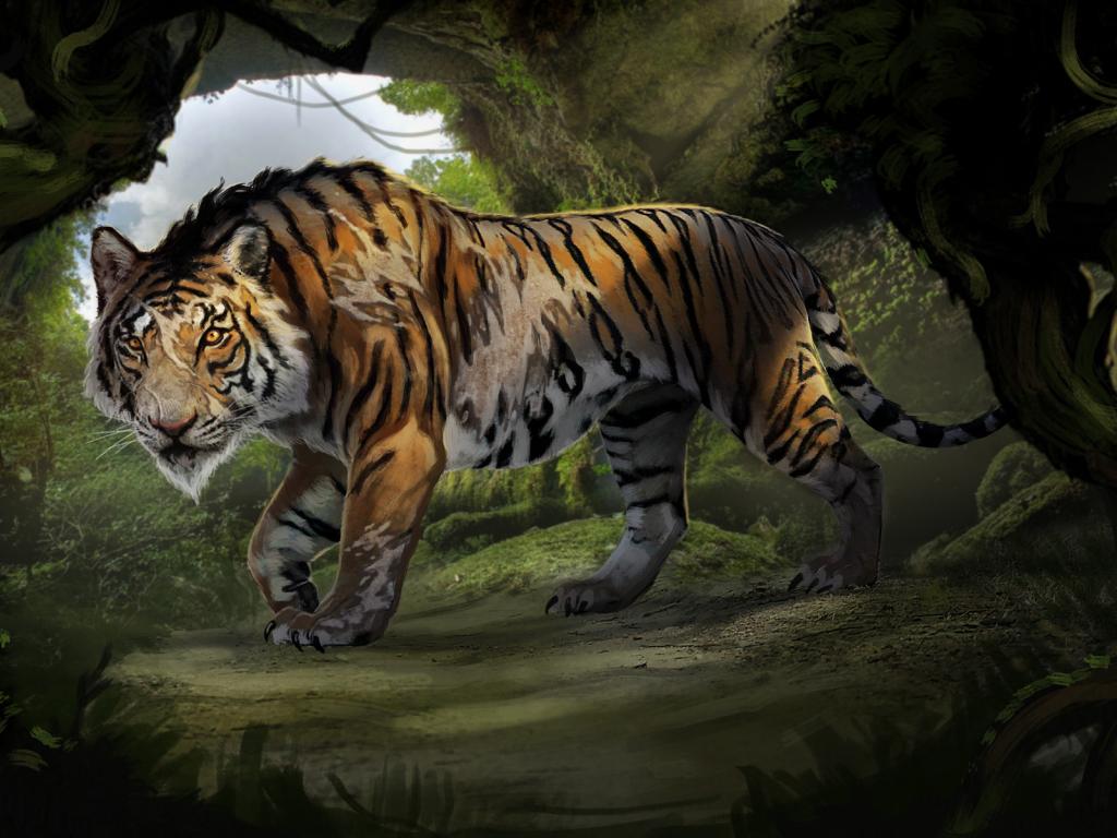 Desktop Wallpaper Shere Khan, Tiger, The Jungle Book, 2016 ...