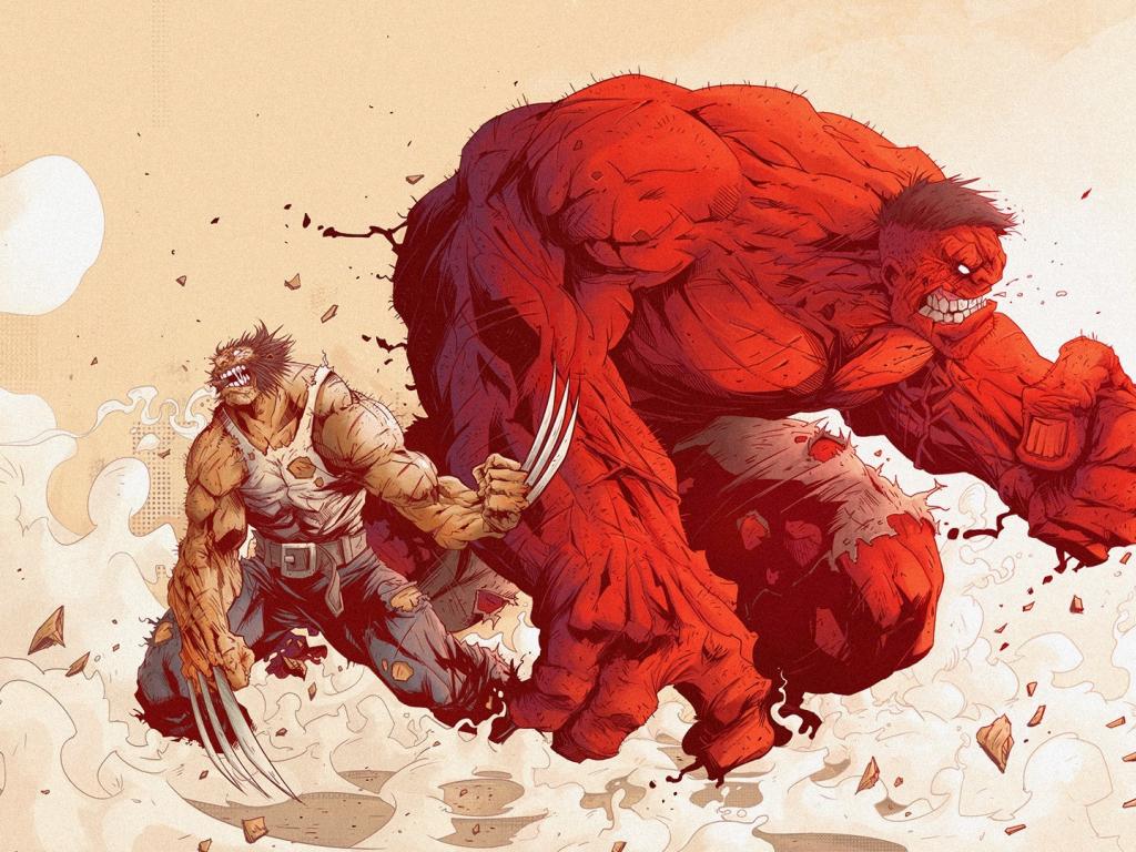 Desktop Wallpaper Angry Hulk, Wolverine, Logan, Marvel ...