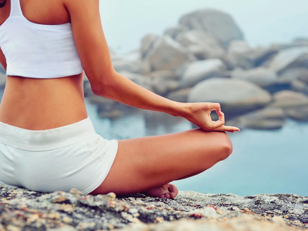 Desktop Wallpaper Yoga, Meditation, Fitness, Rocks, Hd Image, Picture, Background, Snjuoe