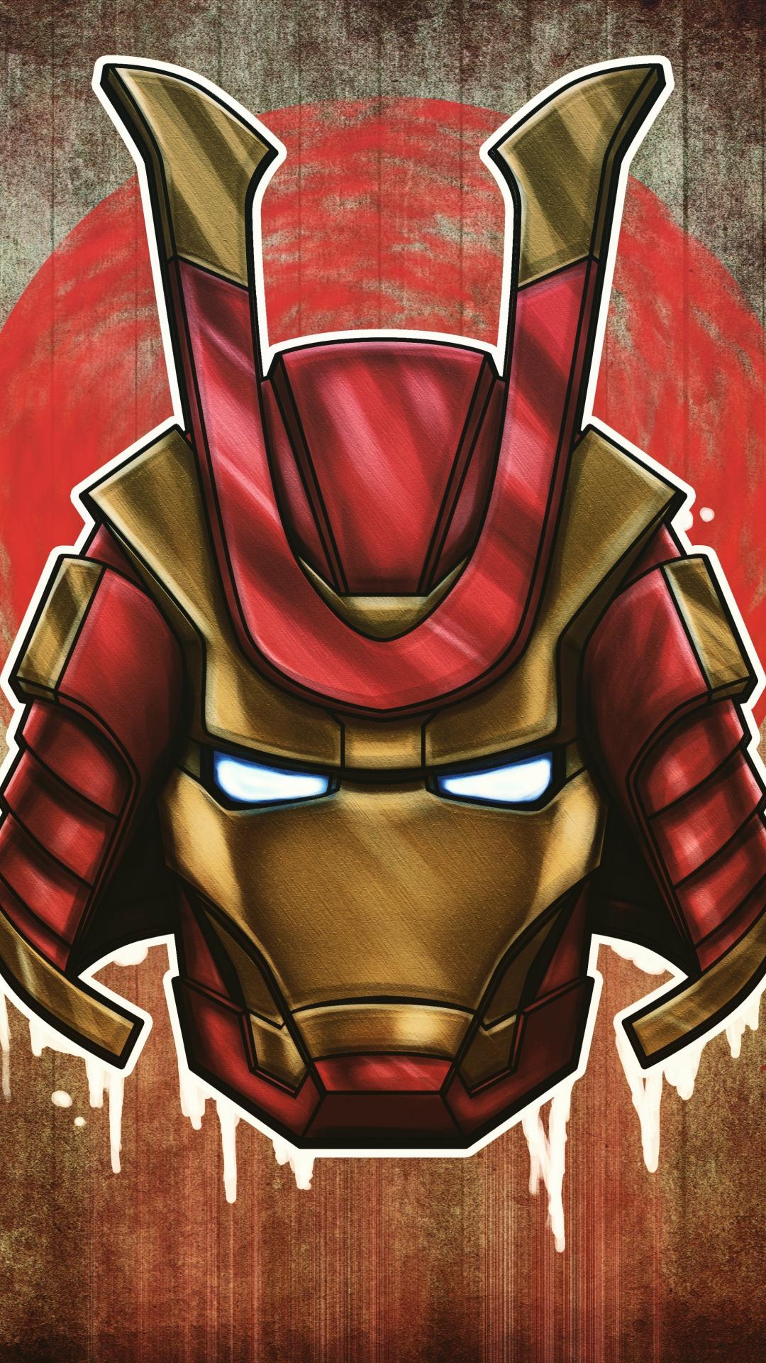 Download 1080x1920 Wallpaper Marvel Samurai Iron Man Art 4k