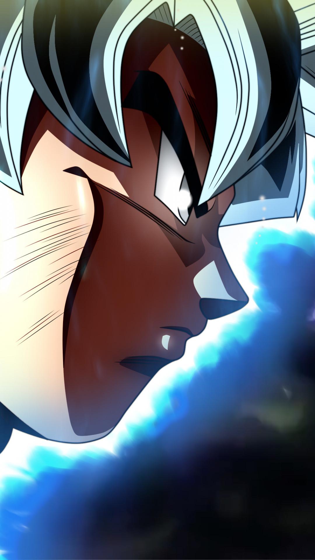 Download 1080x1920 Wallpaper Goku S Face Dragon Ball Super 4k