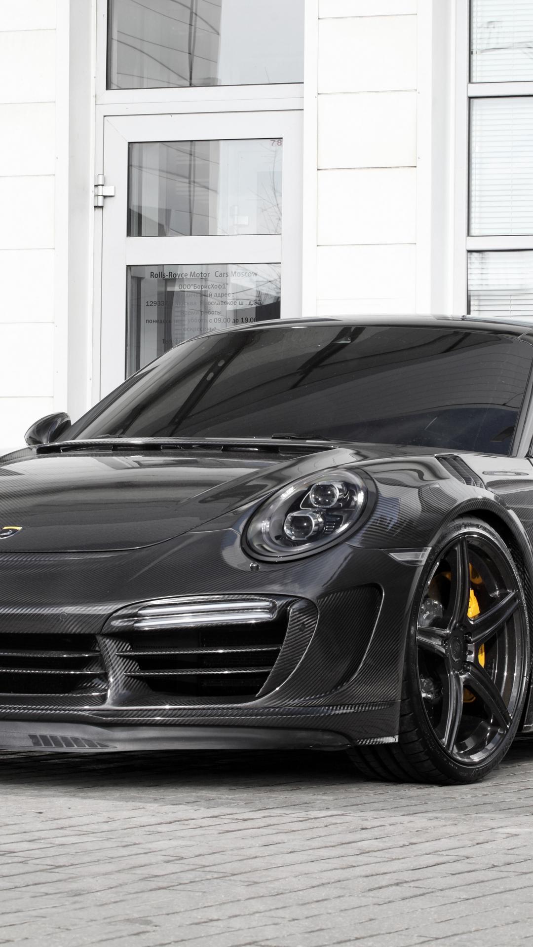 Download 1080x1920 Wallpaper Black Sports Car Porsche 911