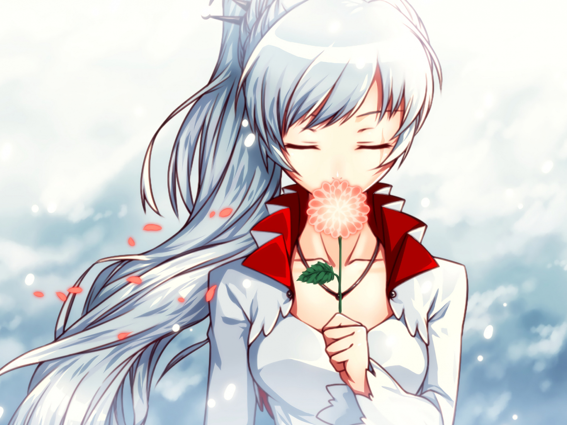 Download 1152x864 Wallpaper Closed Eyes Weiss Schnee Rwby Anime