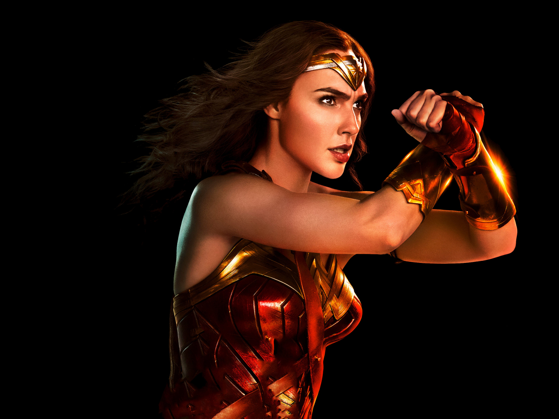 1152x864 wallpaper Wonder woman, portrait, justice league, 2017 movie, 4k