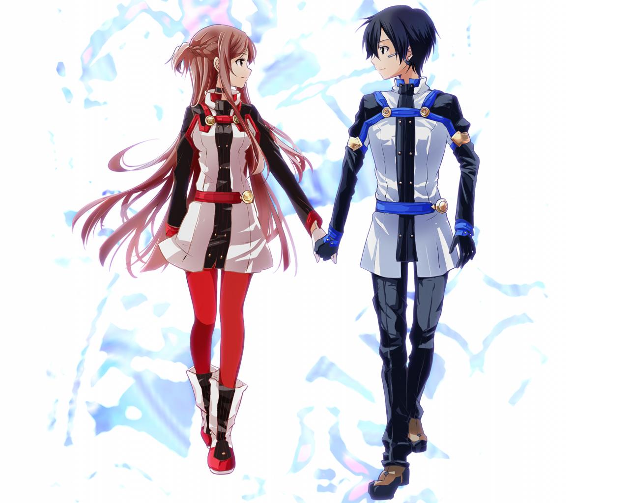 anime couple SAO wallpaper