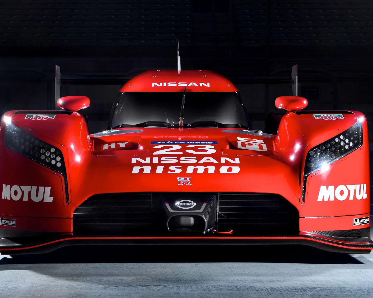 1280x1024 wallpaper Nissan GT-R LM Nismo prototype racing car