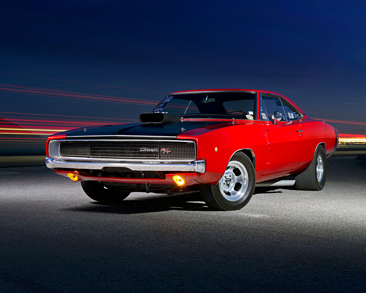 Desktop Wallpaper Classic Muscle Car Red Dodge Charger Hd Image Picture Background Zjtb0s