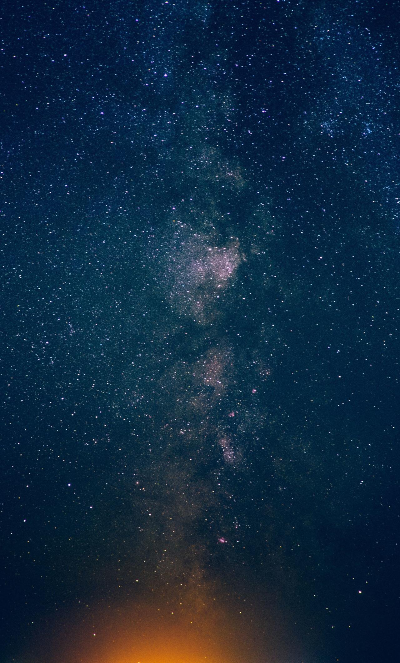 Download 1280x2120 Wallpaper Night, Sky, Stars, Milky Way ...