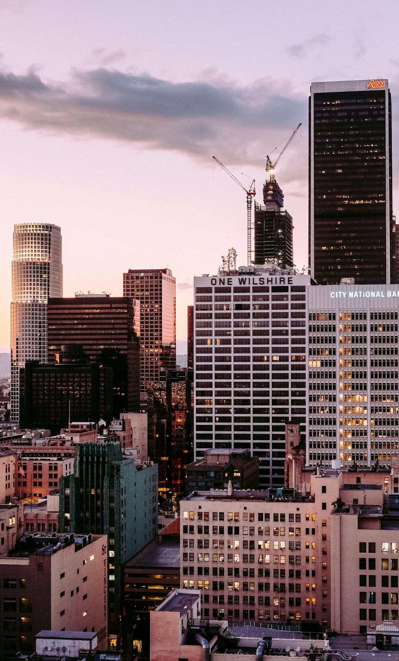 Download 1280x2120 Wallpaper Los Angeles City Skyscrapers