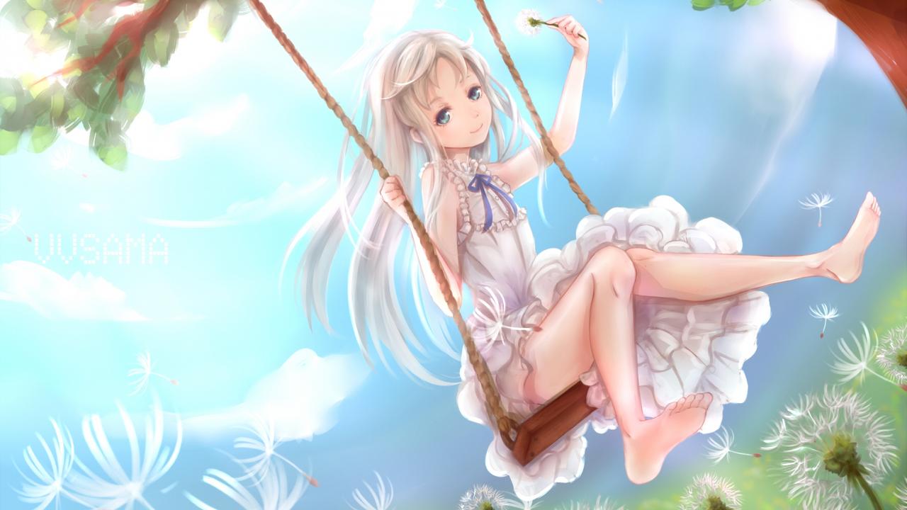 1280x720 Wallpaper Meiko Honma Anohana The Flower We Saw That Day Anime Girl