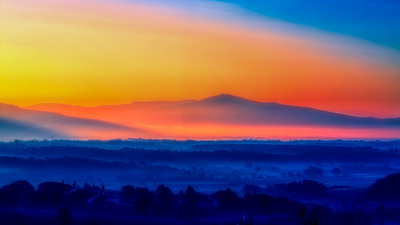 1280x720 wallpaper Italy sunrise, morning, horizon