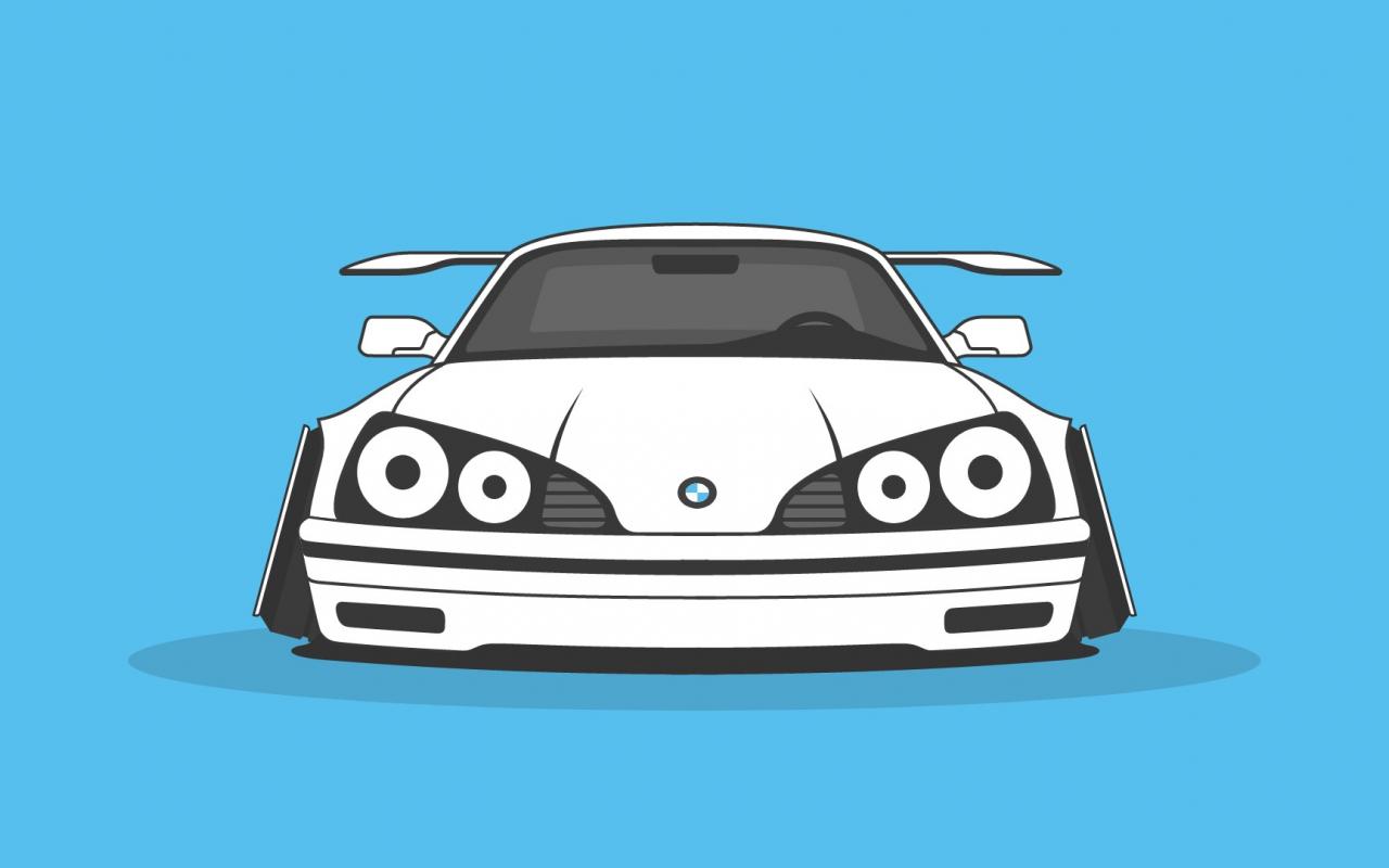 Download 1280x800 Wallpaper Bmw Car Art Full Hd Hdtv Fhd 1080p