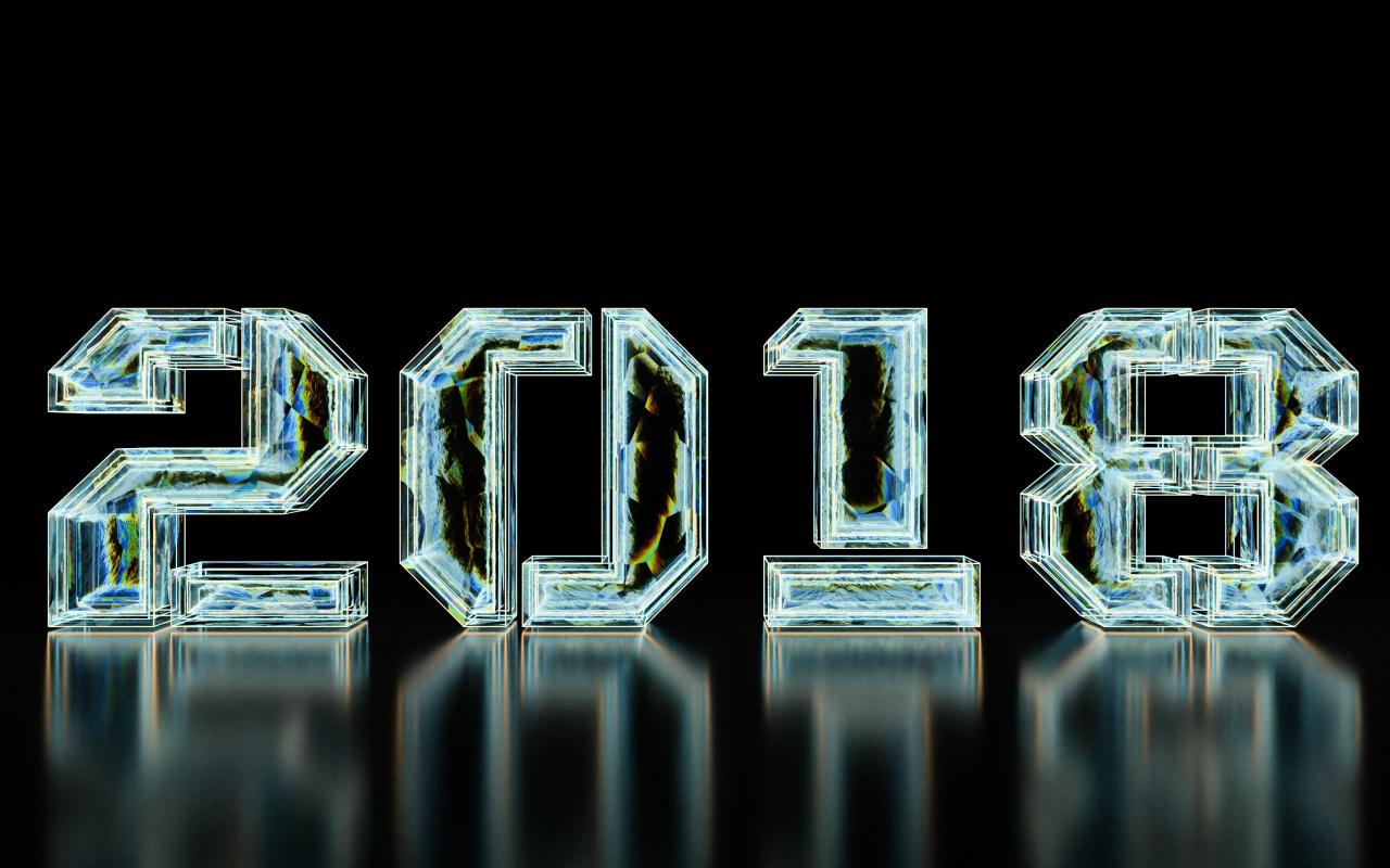 1280x800 wallpaper New year, 2018, typography, digital art