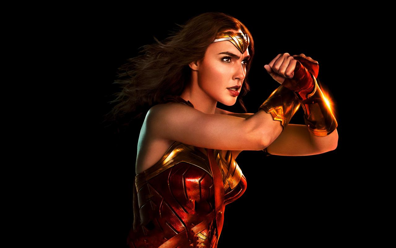 1280x800 wallpaper Wonder woman, portrait, justice league, 2017 movie, 4k