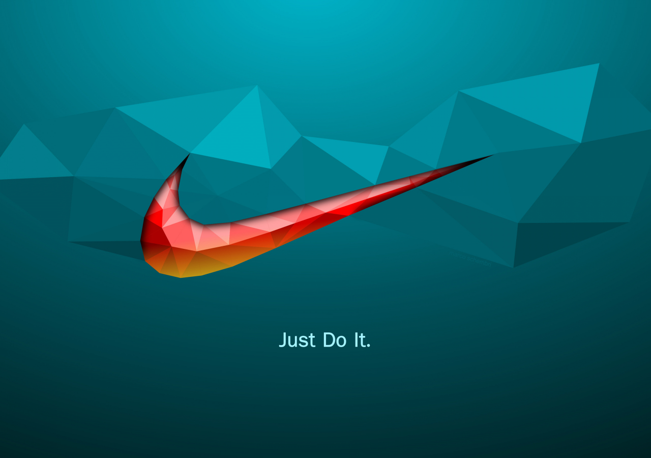 1280x900 wallpaper Just do it, quotes, Nike, logo, abstract