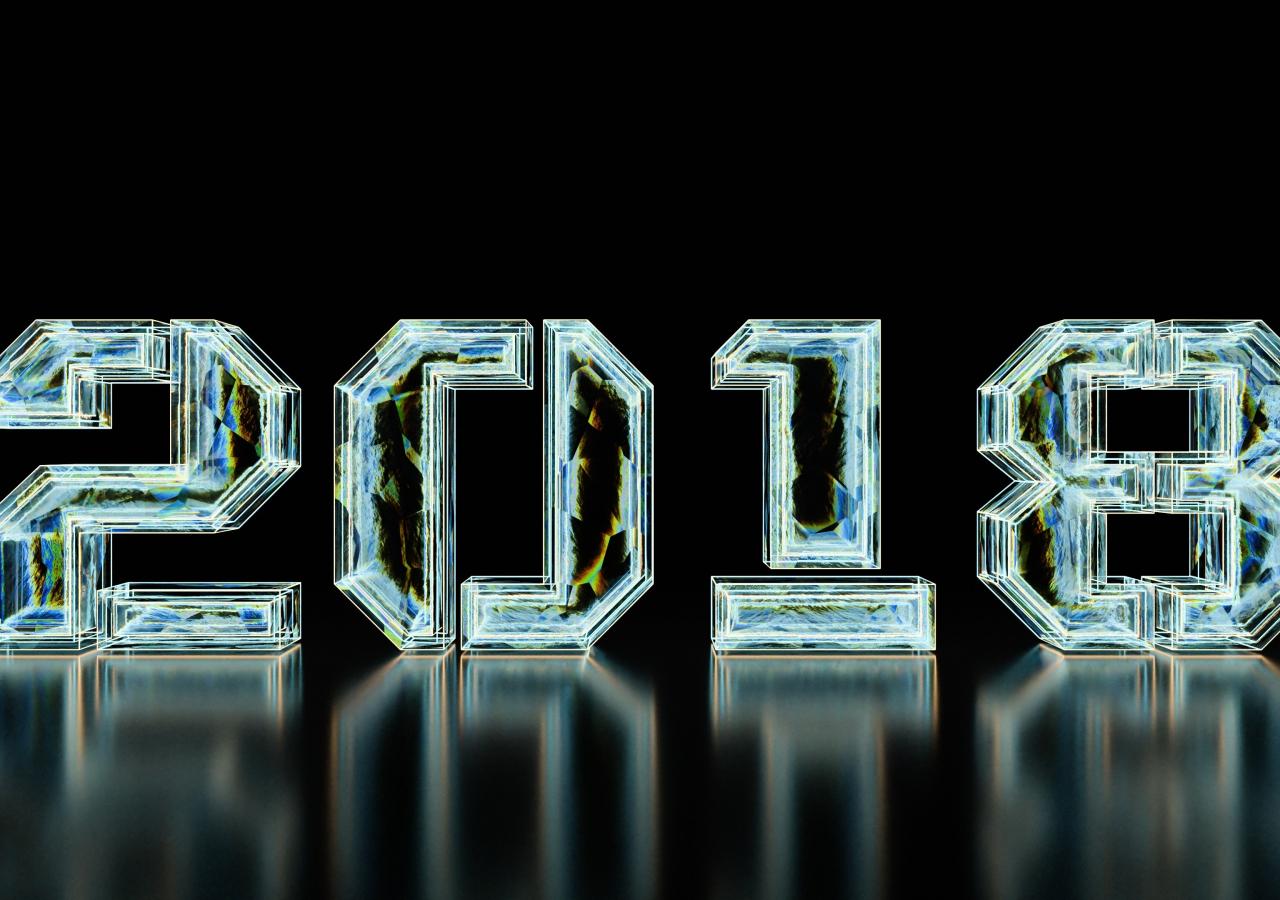 1280x900 wallpaper New year, 2018, typography, digital art