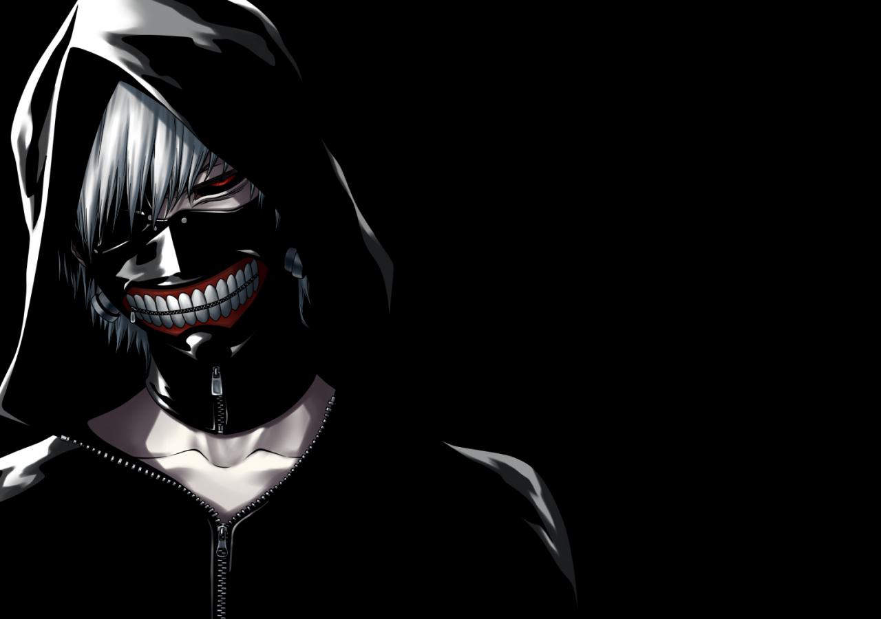 Desktop Wallpaper Ken Kaneki Tokyo Ghoul Anime Dark Hd Image Picture Background Quyd44