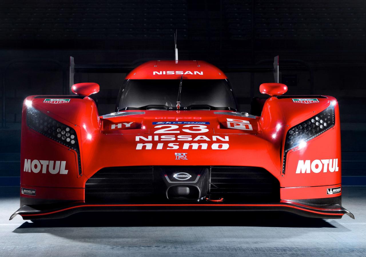 1280x900 wallpaper Nissan GT-R LM Nismo prototype racing car