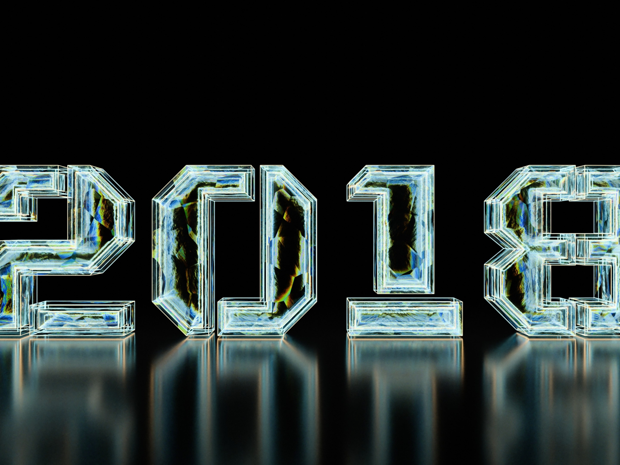 1280x960 wallpaper New year, 2018, typography, digital art