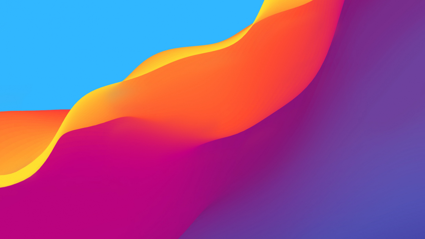 Download 1366x768 Wallpaper Flow Colorful Waves Abstract