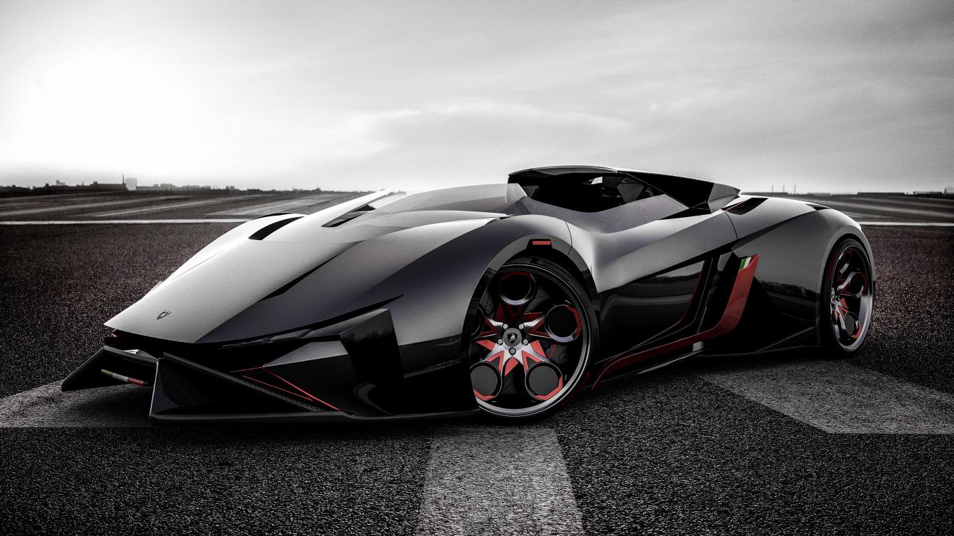 Download 1366x768 Wallpaper Lamborghini Diamante Sports Car