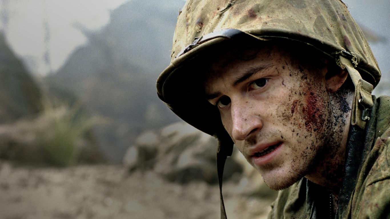 1366x768 wallpaper Soldier, The Pacific TV series, Joseph Mazzello