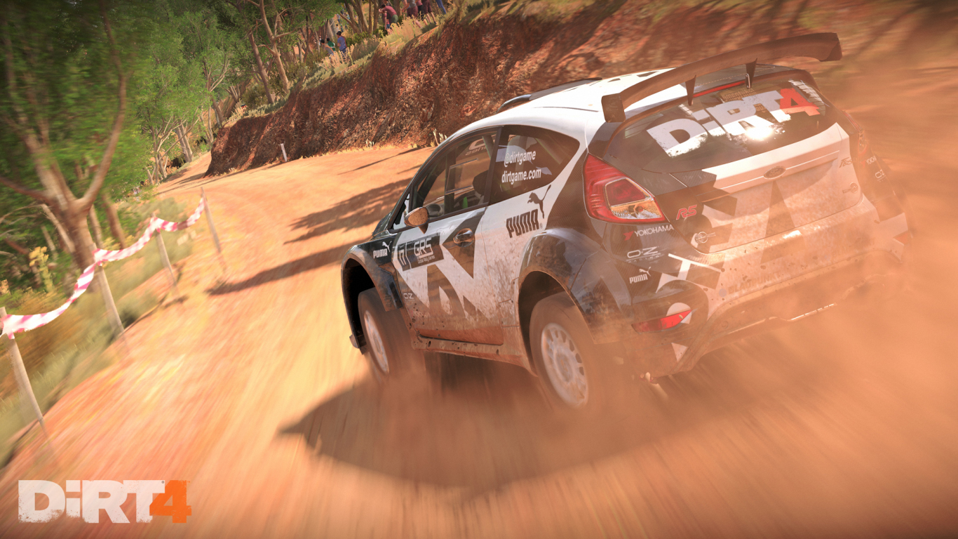 1366x768 wallpaper Dirt 4, racing game, car
