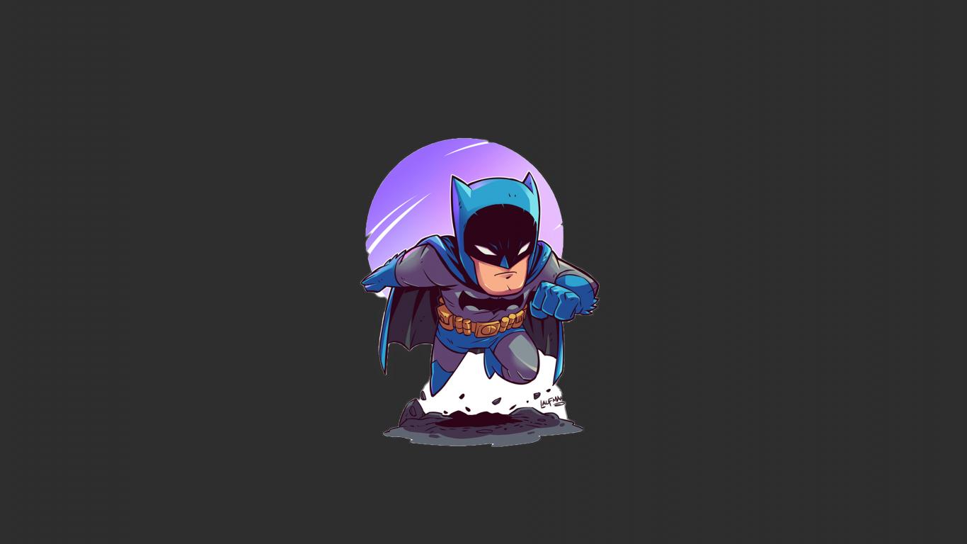 Download 1366x768 Wallpaper Batman Minimalist, Tablet