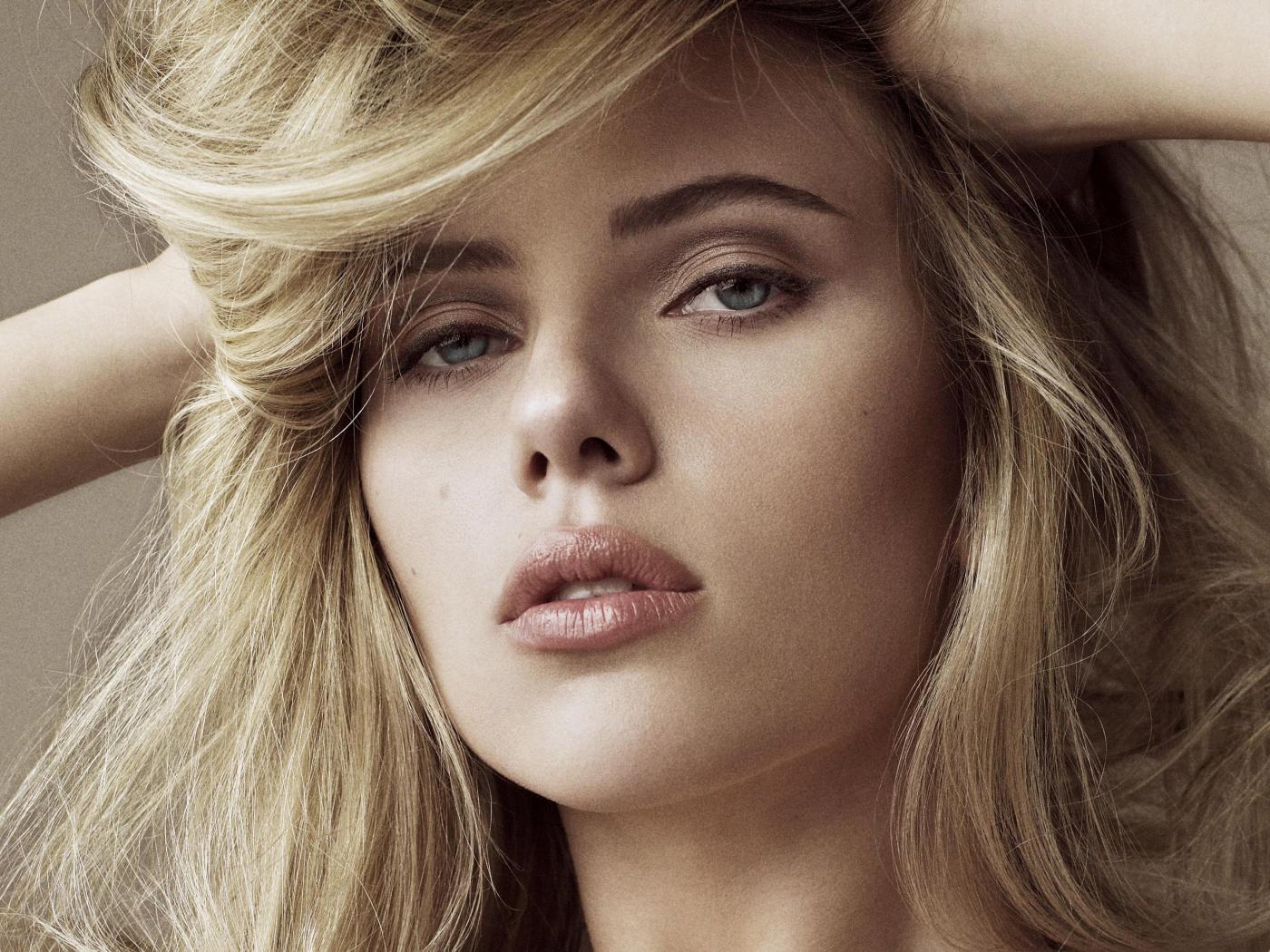 Desktop Wallpaper Scarlett Johansson Actress Blonde Face 4k Hd Image Picture Background 2f2fec