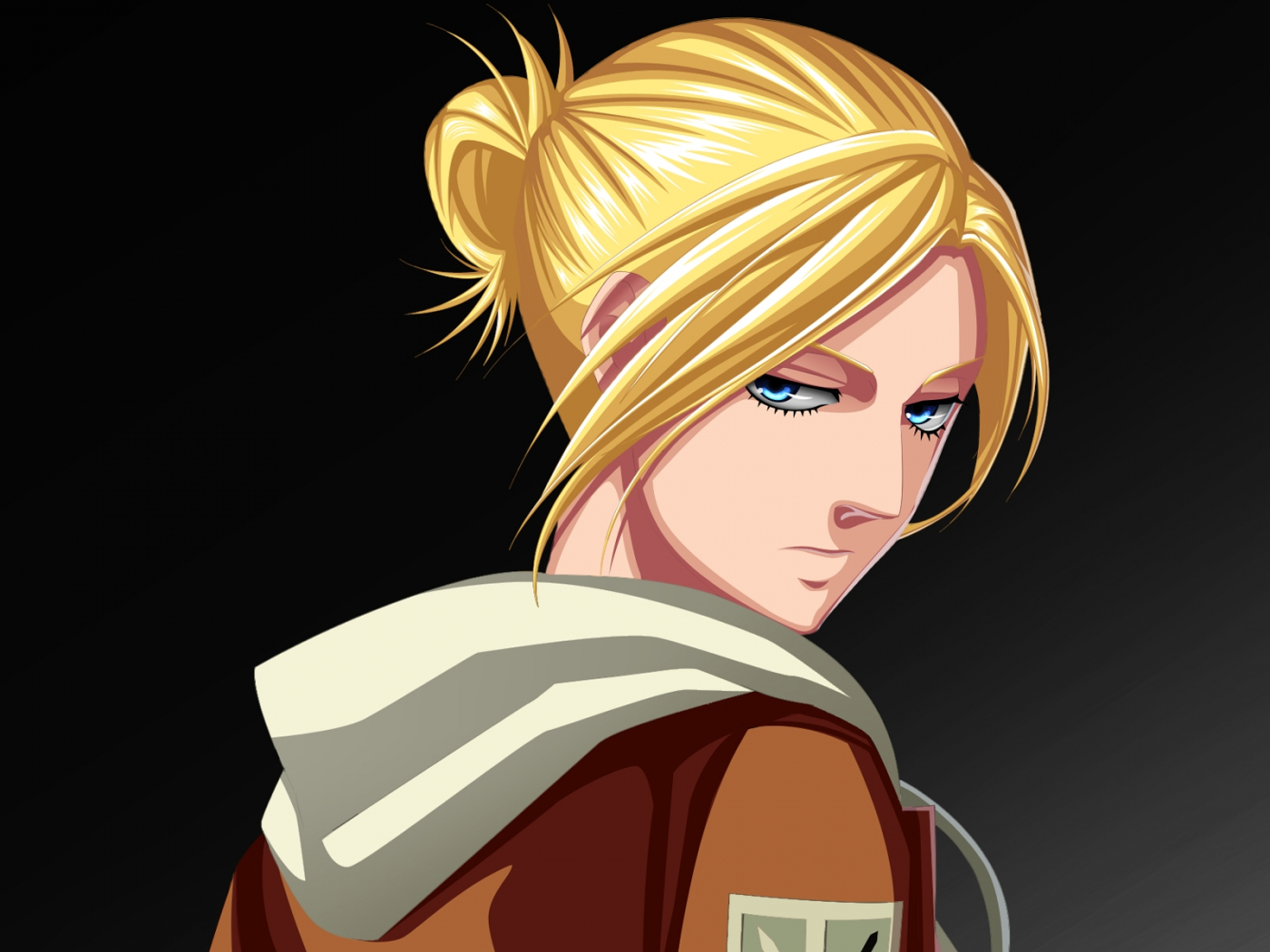 Desktop Wallpaper Blonde Anime Annie Leonhart Attack On Titans Anime Girl Hd Image Picture Background Act Cf