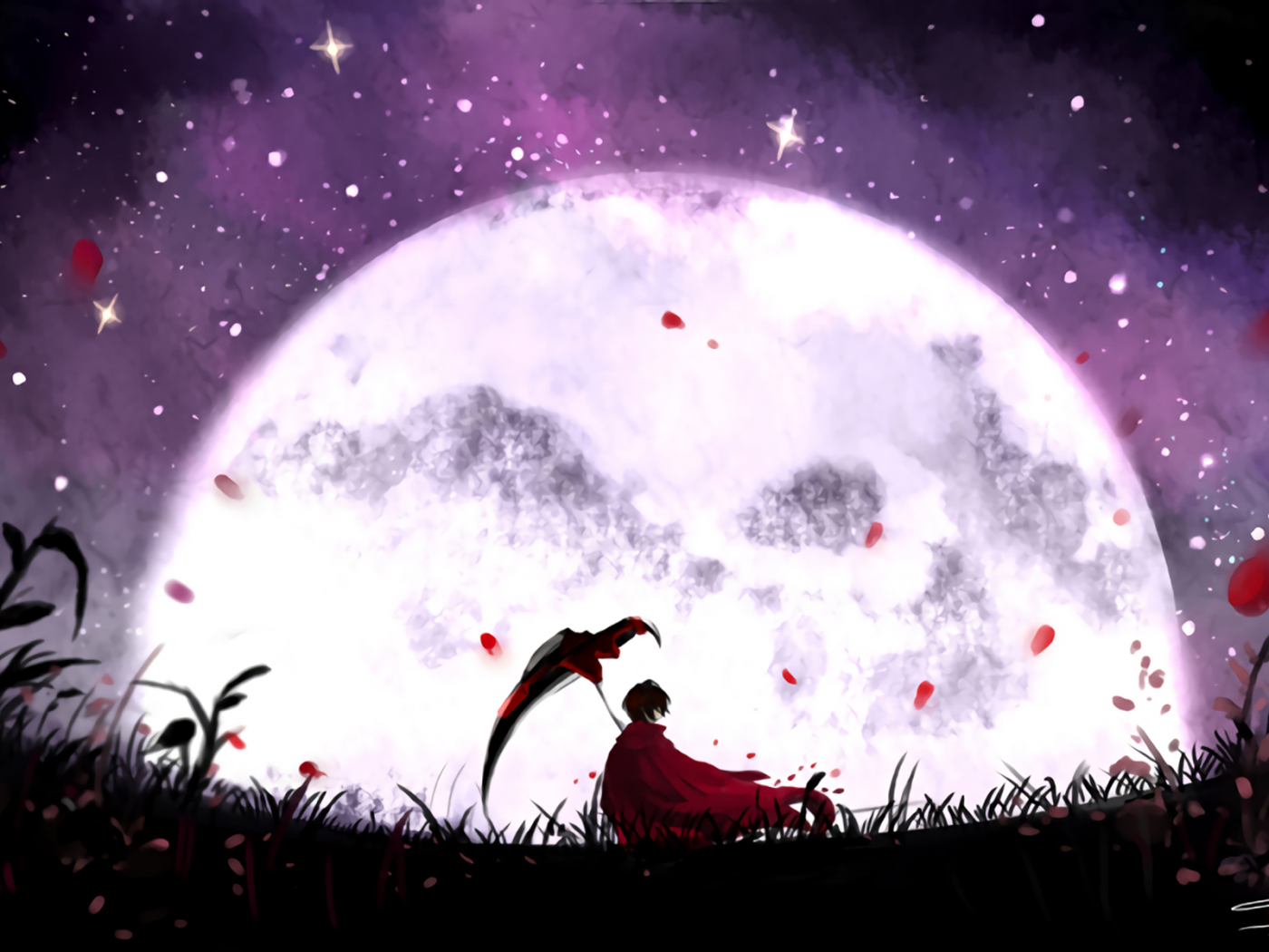 Desktop Wallpaper Moon Night Ruby Rose Rwby Art Hd Image Picture Background Ca0270