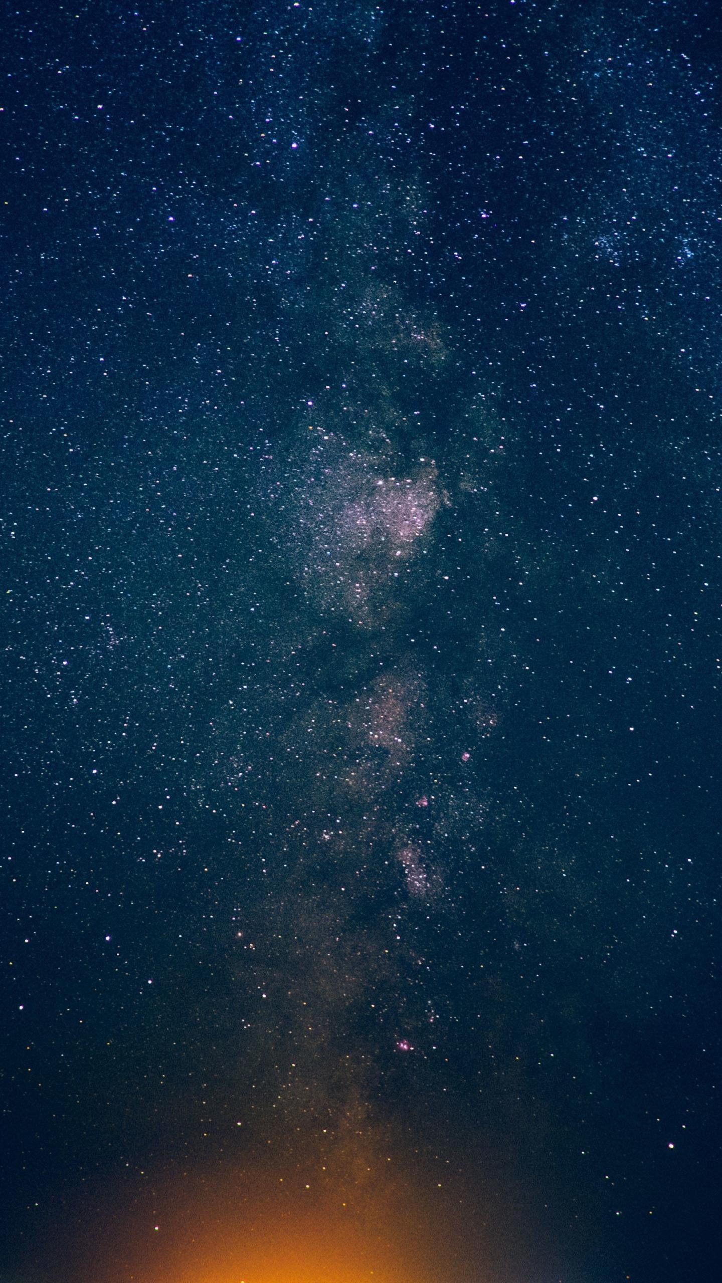 Download 1440x2560 Wallpaper Night Sky Stars Milky Way